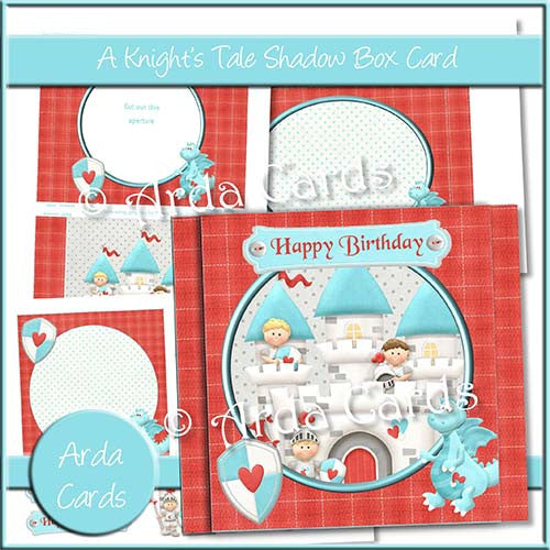 A Knight's Tale Shadow Box Card - The Printable Craft Shop