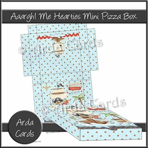 Aaargh Me Hearties Mini Pizza Box Printable