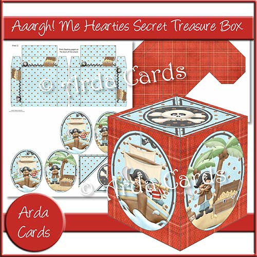 Aaargh Me Hearties Secret Treasure Box - The Printable Craft Shop