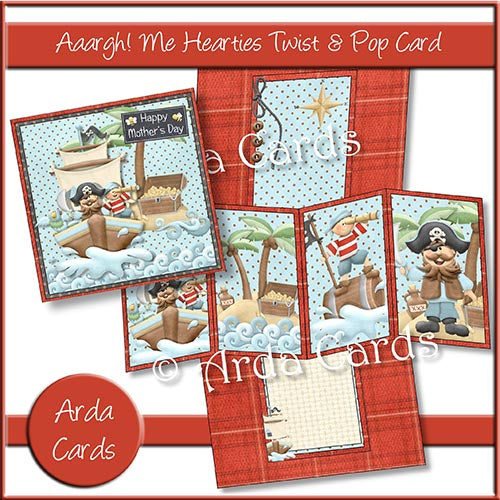 Aaargh Me Hearties Twist & Pop Card Printable