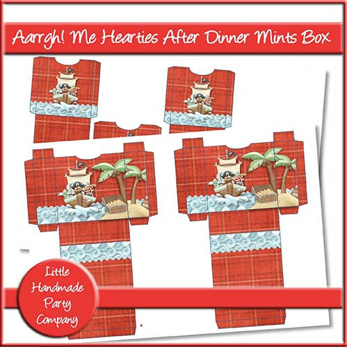 Aarrgh! Me Hearties After Dinner Mints Box - The Printable Craft Shop