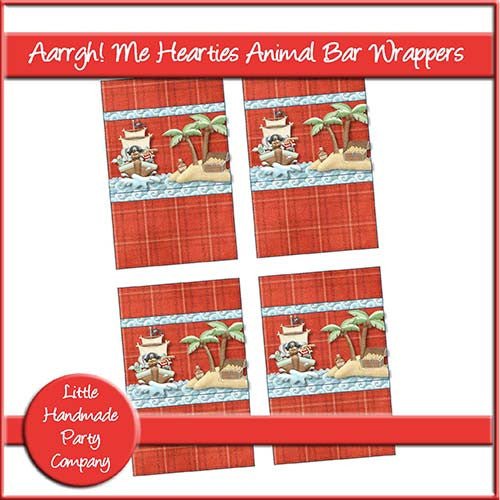 Aarrgh! Me Hearties Animal Bar Wrapper - The Printable Craft Shop