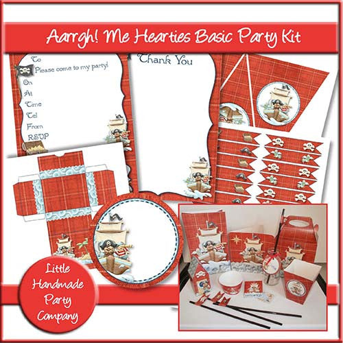 Aarrgh! Me Hearties Basic Party Kit - The Printable Craft Shop