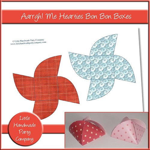 Aarrgh! Me Hearties Bon Bon Boxes - The Printable Craft Shop