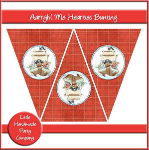 Aarrgh! Me Hearties Bunting - The Printable Craft Shop