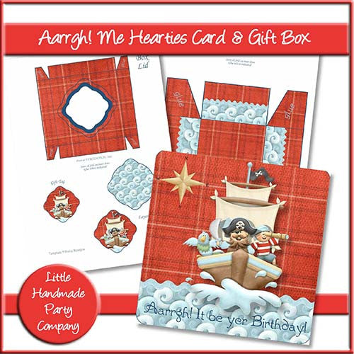 Aarrgh! Me Hearties Birthday Card & Gift Box - The Printable Craft Shop
