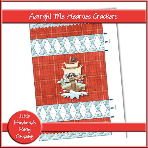 Aarrgh! Me Hearties Crackers - The Printable Craft Shop
