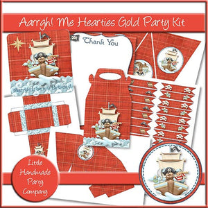 Aarrgh! Me Hearties Gold Party Kit - The Printable Craft Shop