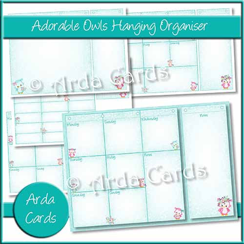 Adorable Owls Hanging Organiser Printable