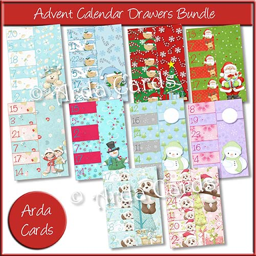 Advent Calendar Drawers Bundle Printable