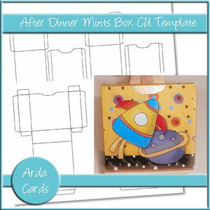After Dinner Mints Box And Wrappers CU Template - The Printable Craft Shop