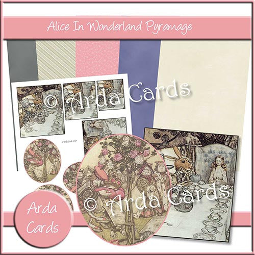 Alice In Wonderland Pyramage Set - The Printable Craft Shop