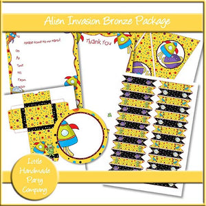 Alien Invasion Bronze Party Set - The Printable Craft Shop