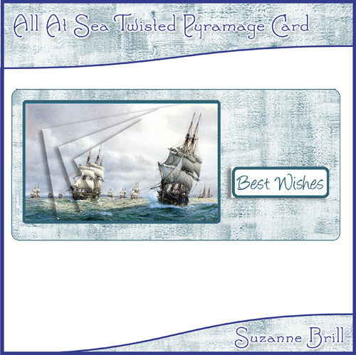 All At Sea Twisted Pyramage Card - The Printable Craft Shop