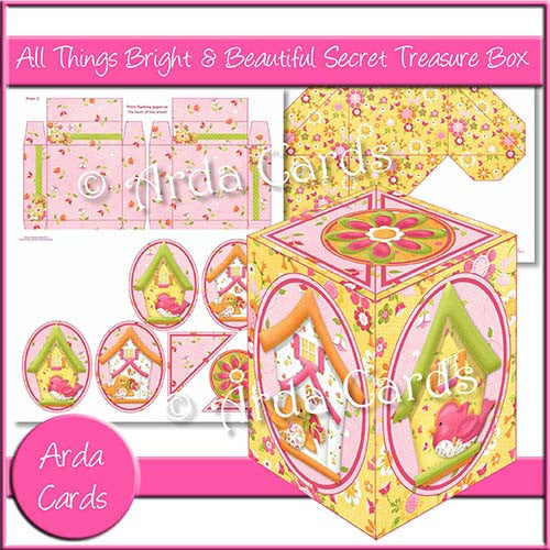 All Things Bright & Beautiful Secret Treasure Box - The Printable Craft Shop