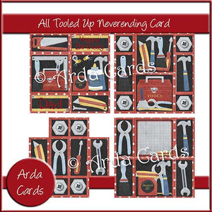All Tooled Up Neverending Card - The Printable Craft Shop