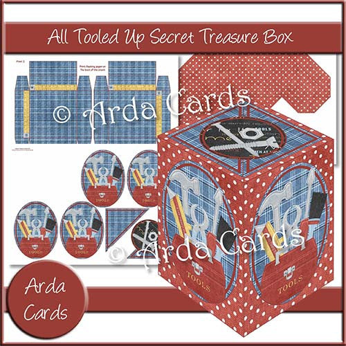 All Tooled Up Secret Treasure Box - The Printable Craft Shop