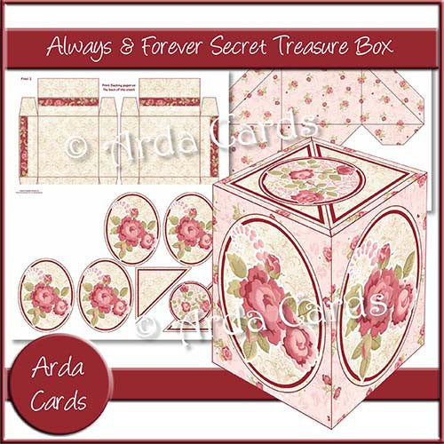 Always & Forever Secret Treasure Box - The Printable Craft Shop