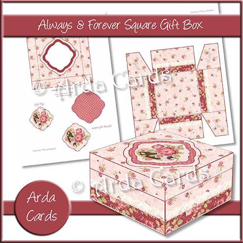 Always & Forever Square Printable Gift Box - The Printable Craft Shop