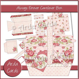 Always And Forever Cantilever Box - The Printable Craft Shop
