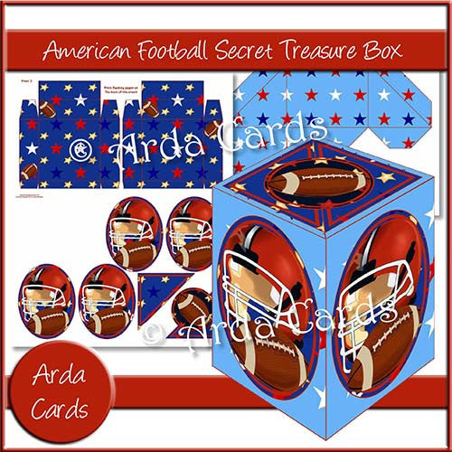 American Football Secret Treasure Box - The Printable Craft Shop