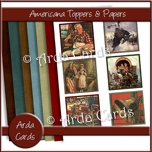 Americana Toppers & Papers - The Printable Craft Shop