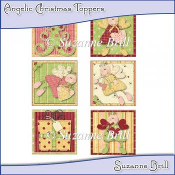 Angelic Christmas Toppers - The Printable Craft Shop