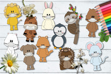 Load image into Gallery viewer, Animal Pals Wear Masks CU Clipart