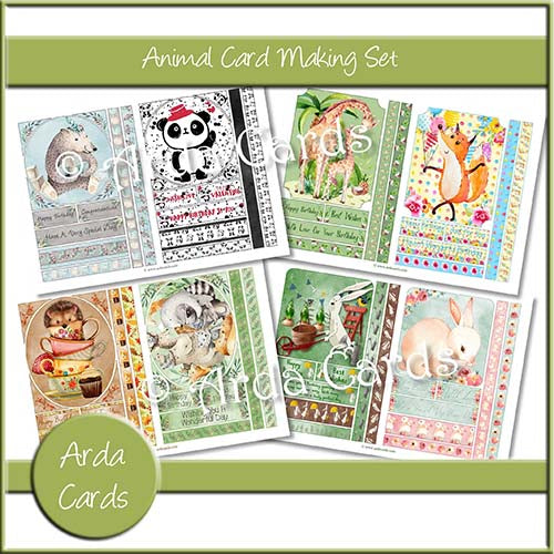 Animal Card Making Kit