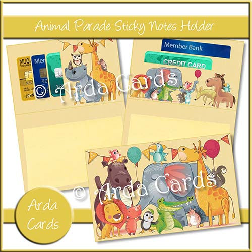 Animal Parade Sticky Notes Holder