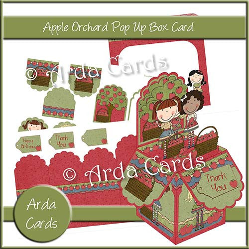 Apple Orchard Printable Pop Up Box Card - The Printable Craft Shop