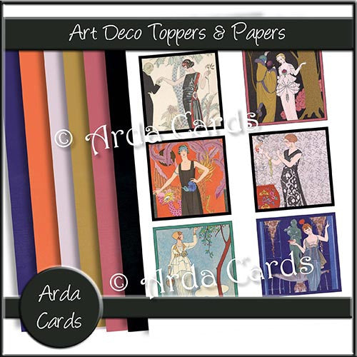 Art Deco Toppers & Papers - The Printable Craft Shop