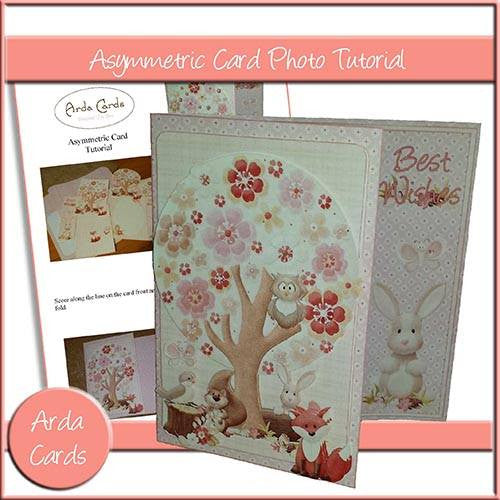 Asymmetric Card Photo Tutorial - The Printable Craft Shop