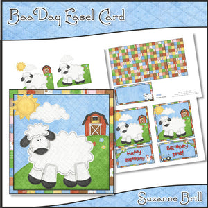 Baa Day Easel Card - The Printable Craft Shop