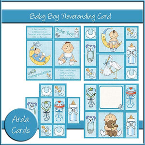 Baby Boy Neverending Card - The Printable Craft Shop