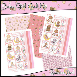 Baby Girl Craft Kit - The Printable Craft Shop