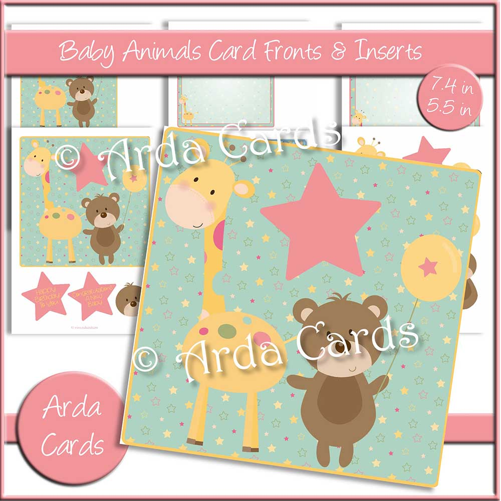 Baby Animals Card Fronts & Inserts