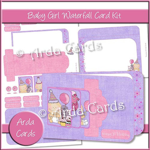 Baby Girl Waterfall Card Kit