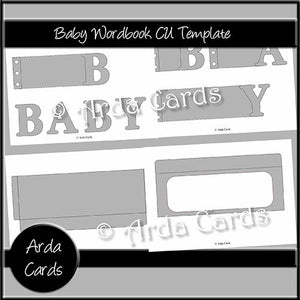 Baby Wordbook CU Template - The Printable Craft Shop