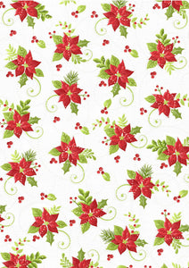 printable poinsettia background craft paper