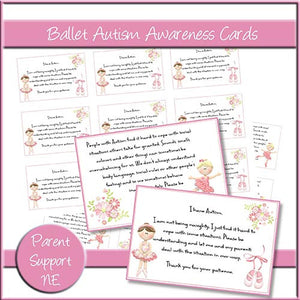 Ballet Autism Awareness Cards - The Printable Craft Shop