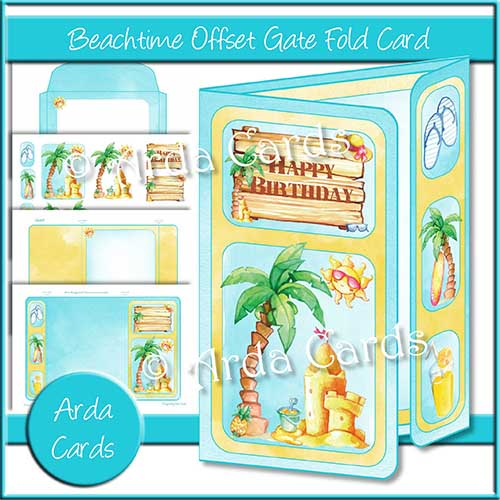 Beachtime Offset Gatefold Card