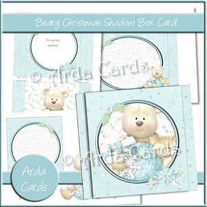 Beary Christmas Shadow Box Card - The Printable Craft Shop
