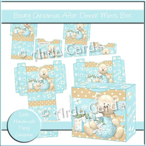 Beary Christmas After Dinner Mints Boxes - The Printable Craft Shop