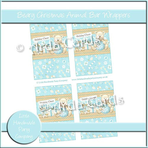 Beary Christmas Animal Bar Wrappers - The Printable Craft Shop