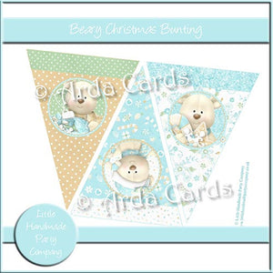 Beary Christmas Bunting - The Printable Craft Shop