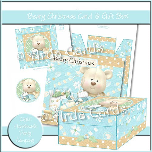 Beary Christmas Card & Gift Box - The Printable Craft Shop
