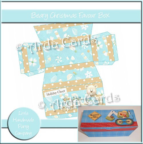 Beary Christmas Favour Box - The Printable Craft Shop