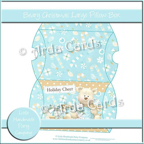 Beary Christmas Large Pillow Box - The Printable Craft Shop