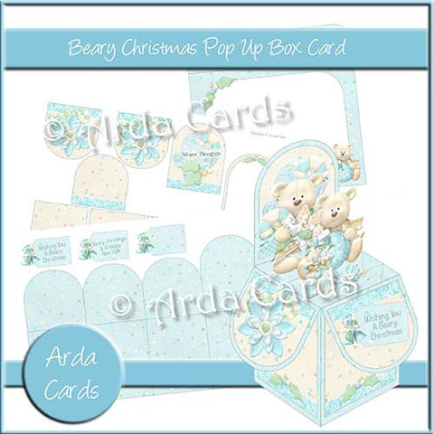 Beary Christmas Pop Up Box Card